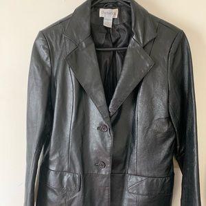 Authentic black leather jacket